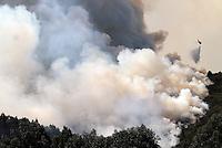 COTA-COLOMBIA-11-01-2013.Incendio forestal en los cerros.Forest fire in the hills.. (Photo:VizzorImage/Felipe Caicedo).
