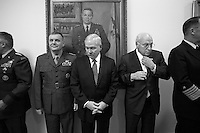 President Bush and VP Cheney: U.S. Department of Defense Briefings at the Pentagon with Secretary of Defense Robert Gates and Chairman of the Joint Chiefs of Staff Admiral Michael Mullen..PHOTOS OF NOTE PON 11.1.07-12.10.07