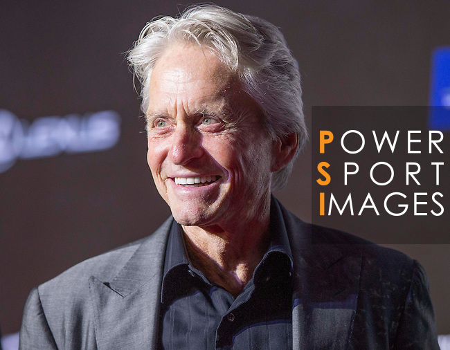 Michael Douglas on the Red Carpet event at the World Celebrity Pro-Am 2016 Mission Hills China Golf Tournament on 20 October 2016, in Haikou, China. Photo by Victor Fraile / Power Sport Images