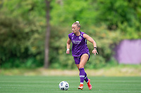 SANFORD, FL - APRIL 3: Courtney Petersen of the Orlando Pride dribbles the ball during a game between Florida State Seminoles and Orlando Pride at Sylvan Park Training Center on April 3, 2021 in Sanford, Florida.