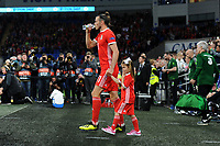 Gareth Bale of Wales  walks onto the pitch during the UEFA Nations League B match between Wales and Ireland at Cardiff City Stadium in Cardiff, Wales, UK.September 6, 2018