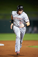 Peoria Javelinas Chad Wallach (22), of the Cincinnati Reds organization, during a game against the Salt River Rafters on October 11, 2016 at Salt River Fields at Talking Stick in Scottsdale, Arizona.  The game ended in a 7-7 tie after eleven innings.  (Mike Janes/Four Seam Images)