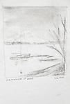 Seattle, Lake Washington at Leschi, Joel Rogers, Journal Art 2002, charcoal on paper,