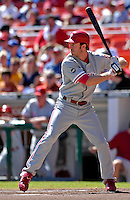 23 September 2007: Philadelphia Phillies second baseman Chase Utley in action against the Washington Nationals at Robert F. Kennedy Memorial Stadium in Washington, DC. The Nationals defeated the visiting Phillies 5-3 to close out the 2007 home season and the final game in baseball history at RFK Stadium. The Nationals will open up the 2008 season at Nationals Park, their new facility currently under construction.. .Mandatory Photo Credit: Ed Wolfstein Photo
