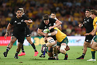 7th November 2020, Brisbane, Australia; Tri Nations International rugby union, Australia versus New Zealand;  Scott Barrett of The Allblacks in action