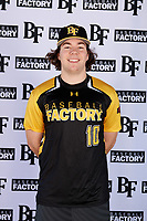 Patrick Muskat (10) of Central Catholic School in Beaverton, Oregon during the Baseball Factory All-America Pre-Season Tournament, powered by Under Armour, on January 12, 2018 at Sloan Park Complex in Mesa, Arizona.  (Mike Janes/Four Seam Images)