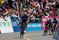 El TAMBO -RISARALDA - COLOMBIA, 9-02-2018:El ciclista francés Julián Alaphilippe ganó a cuarta etapa de la Carrera internacional de ciclismo  Oro y  Paz./ French cyclist Julián Alaphilippe won the fourth stage of the International Race Oro y Paz . Photo: VizzorImage/ Santiago Osorio / Contribuidor