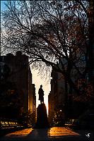 The Lincoln Statue in Union Square at Sunrise.