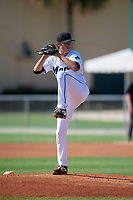 GCL Marlins pitcher Evan Fitterer (35) during a Gulf Coast League game against the GCL Astros on August 8, 2019 at the Roger Dean Chevrolet Stadium Complex in Jupiter, Florida.  GCL Astros defeated GCL Marlins 4-2.  (Mike Janes/Four Seam Images)