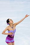 Mao Asada of Japan compete in the Figure Skating Team Ice Dance Short Program during the 2014 Sochi Olympic Winter Games at Iceberg Skating Palace on February 8, 2014 in Sochi, Russia. Photo by Victor Fraile / Power Sport Images