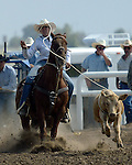 Breakaway Roper Michelle Malone competes at the Southeast Weld County CPRA Rodeo on August 12, 2006, in Keenesburg, Colorado.