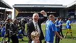 Ally McCoist applauds the Rangers fans
