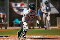 Dartmouth Big Green Kade Kretzschmar (24) bats during a game against the Omaha Mavericks on February 23, 2020 at North Charlotte Regional Park in Port Charlotte, Florida.  Dartmouth defeated Omaha 8-1.  (Mike Janes/Four Seam Images)