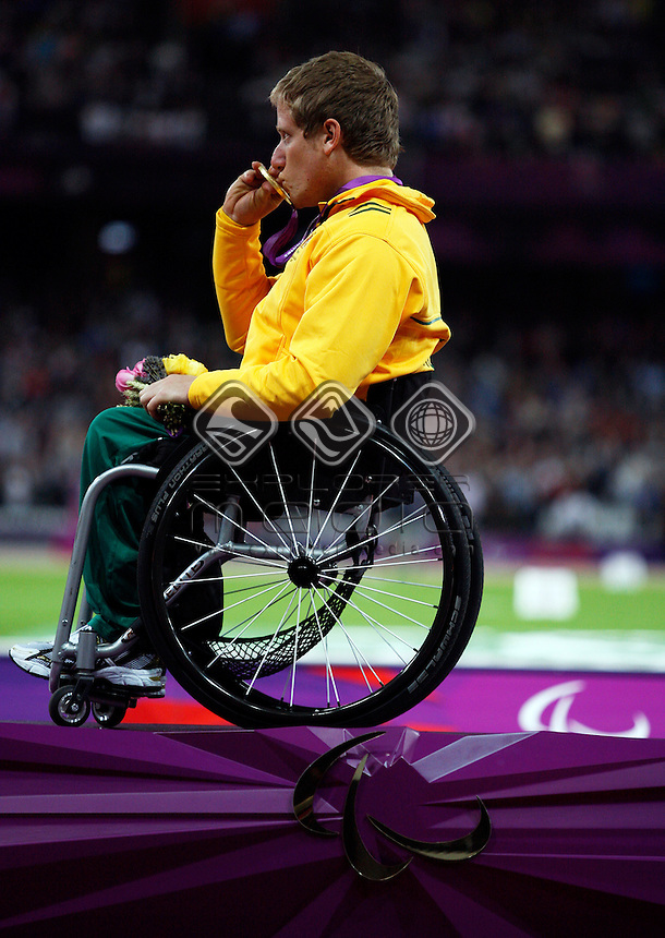 Richard Colman (AUS), Men's 800m - T53 Final winner.<br /> Athletics, Olympic Stadium (Wednesday 5th Sept)<br /> Paralympics - Summer / London 2012<br /> London England 29 Aug - 9 Sept <br /> © Sport the library/Joseph Johnson