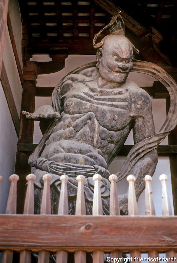 Nara: Horyuji, Guardian Figure. Photo '82.