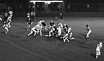 Bethel Park PA:  Offensive play with Bethel running the Houston veer triple option. Clark Miller 30 running the ball off right guard after good blocks by Dennis Franks 66, Joe Barrett 75 and Don Troup 51, and Bob Hensler 77.  Others in the photo; Tom Skladany 86, Mike Stewart 11, Chip Huggins 32, John Bender 19. The offense and defense did not play well in the 12-6 defeat vs Montour. Montour's quarterback, Bill Daniels, killed the Blackhawks.  Bill Daniels was played his college ball at Pitt.  The defensive unit was one of the best in Bethel Park history only allowing a little over 7 points a game.