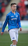St Johnstone Academy v Manchester United Academy....17.04.15   <br /> Gavin Brown<br /> Picture by Graeme Hart.<br /> Copyright Perthshire Picture Agency<br /> Tel: 01738 623350  Mobile: 07990 594431