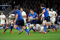 Scott Spedding of France looks for support in midfield