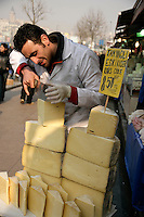 Cheese for sale, Istanbul, Turkey