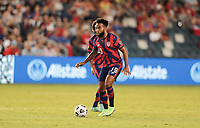 KANSAS CITY, KS - JULY 15: Eryk Williamson #19 of the United States looks for an open man during a game between Martinique and USMNT at Children's Mercy Park on July 15, 2021 in Kansas City, Kansas.