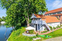 Historisches Bootshaus der Ritterakademie, Dominsel, Bandenburg an der Havel, Brandenburg, Deutschland