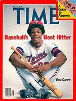 Time cover of baseball's Rod Carew, July 18, 1977. Photo by John G. Zimmerman.