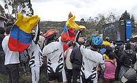 CÓMBITA-BOYACÁ -COLOMBIA-21-JULIO-2013.Celebración de familiares y boyacences por los tres títulos obtenidos por Nairo Quintana el  Tour de Francia número 100,el segundo puesto en la general, el primer puesto en la montaña y el mejor novato del tour.Celebration of family and boyacences by the three titles won by Nairo Quintana's Tour de France number 100, the second place overall, first place in the mountains and the best rookie of the tour.<br /> Photo: VizzorImage/ José Miguel Palencia/ Stringer