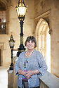 Margaret Drabble , novelist and writer at Oxford Literary Festival  at Christchurch College, Oxford  2014 CREDIT Geraint Lewis