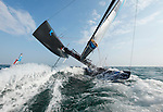 Training session on F18 before the Eurocat 2011, the great catamaran in Carnac, Brittany, France..Mischa Heemskerk.Bastiaan Tentij.F18 Cirrus R.
