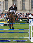 International Jumping in Chantilly France.Kevin Staut (FRA) european champion at 3 place riding Le prestige St Lois