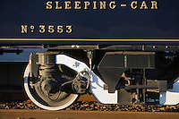 Europe/République Tchèque/Prague:Détail wagon lit  de l'Orient-Express Train de Luxe qui assure la liaison Calais,Paris , Prague,Venise détail d'un wagon [Non destiné à un usage publicitaire - Not intended for an advertising use]
