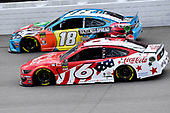 #6: Ryan Newman, Roush Fenway Racing, Ford Mustang Coca Cola and #18: Kyle Busch, Joe Gibbs Racing, Toyota Camry M&M's Hazelnut