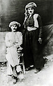 Turkey 1932.Sheikh Ahmed and his bodyguard,Ois Mah in Eskisehir.
