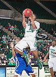 North Texas Mean Green guard Chris Jones (5) in action during the game between the New Orleans Privateers and the University of North Texas Mean Green at the North Texas Coliseum,the Super Pit, in Denton, Texas. UNT defeated UNO 78 to 47.....