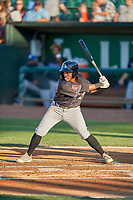 Jose Reyes (20) of the Missoula Osprey at bat against the Ogden Raptors at Lindquist Field on August 12, 2019 in Ogden, Utah. The Raptors defeated the Osprey 4-3. (Stephen Smith/Four Seam Images)