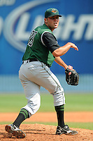 Augusta Green Jackets pitcher Brett Bochy #39 delivers a pitch during a game against the Asheville Tourists at McCormick Field on July 10, 2011 in Asheville, North Carolina.  Augusta won the game 10-2.   (Tony Farlow/Four Seam Images)