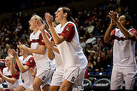 SPOKANE, WA - MARCH 26, 2011: Stanford Women's Basketball vs University of North Carolina, NCAA West Regionals on March 26, 2011.