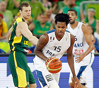 "France`s Mickael Gelabale in action during European basketball championship ""Eurobasket 2013""  final game between France and Lithuania in Stozice Arena in Ljubljana, Slovenia, on September 22. 2013. (credit: Pedja Milosavljevic  / thepedja@gmail.com / +381641260959)"
