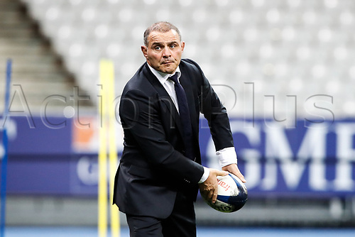 31st October 2020; Stade de France, Paris, France; Six Nations Rugby International, France versus Ireland;  Raphael Ibanez ( manager general France ) during pre-game warm-up