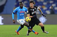 Kalidou Koulibaly of SSC Napoli and Ryder Matos of Empoli FC compete for the ball during the Italy Cup football match between SSC Napoli and Empoli FC at stadio Diego Armando Maradona in Napoli (Italy), January 13, 2021. <br /> Photo Cesare Purini / Insidefoto