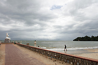 Kep beach<br /> , Cambodia during rainy season<br /> <br /> PHOTO :  Agence Quebec Presse<br /> <br /> <br /> <br /> <br /> <br /> PHOTO : Agence Quebec Presse