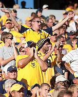 September 4, 2010: WVU fans. The West Virginia Mountaineers defeated the Coastal Carolina Chanticleers 31-0 on September 4, 2010 at Mountaineer Field, Morgantown, West Virginia.