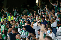 28th August 2021; Benito Villamarín Stadium, Seville, Spain, Spanish La Liga Football, Real Betis versus Real Madrid; Real Betis fans mass in the stands