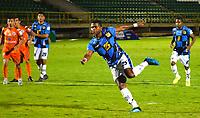 TUNJA -COLOMBIA, 21-10-2020. Boyacá Chico y el Real San Andrés  en partido por la tercera ronda de Clasificación de la Copa BetPlay DIMAYOR I 2020 jugado en el estadio La Independencia de la ciudad de Tunja. / Boyaca Chico and Real San Andres in match for the third round of Clasification  BetPlay DIMAYOR Cup I 2020 played at La Independencia stadium in Tunja city: VizzorImage/  Edward Leguizamon / Contribuidor