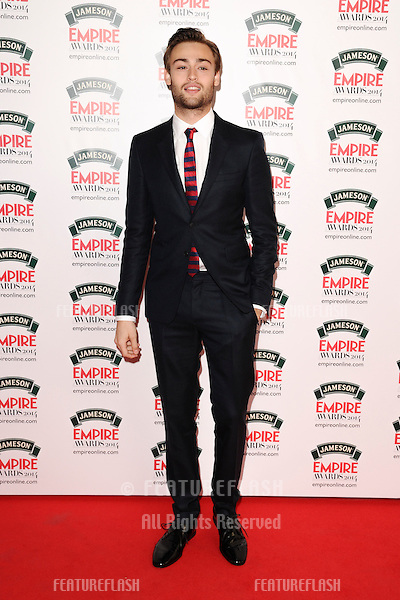 Douglas Booth<br /> arives for the Empire Magazine Film Awards 2014 at the Grosvenor House Hotel, London. 30/03/2014 Picture by: Steve Vas / Featureflash