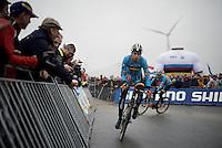 Wout Van Aert (BEL/Crelan-Vastgoedservice) warming up before the start<br /> <br /> Men's Elite Race<br /> <br /> UCI 2016 cyclocross World Championships,<br /> Zolder, Belgium