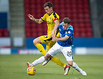 St Johnstone v Falkirk…24.07.18…  McDiarmid Park    Betfred Cup<br />Kyle McClean and Aaron Muirhead<br />Picture by Graeme Hart. <br />Copyright Perthshire Picture Agency<br />Tel: 01738 623350  Mobile: 07990 594431