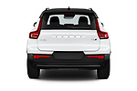 Straight rear view of 2021 Volvo XC40 R-Design 5 Door SUV Rear View  stock images