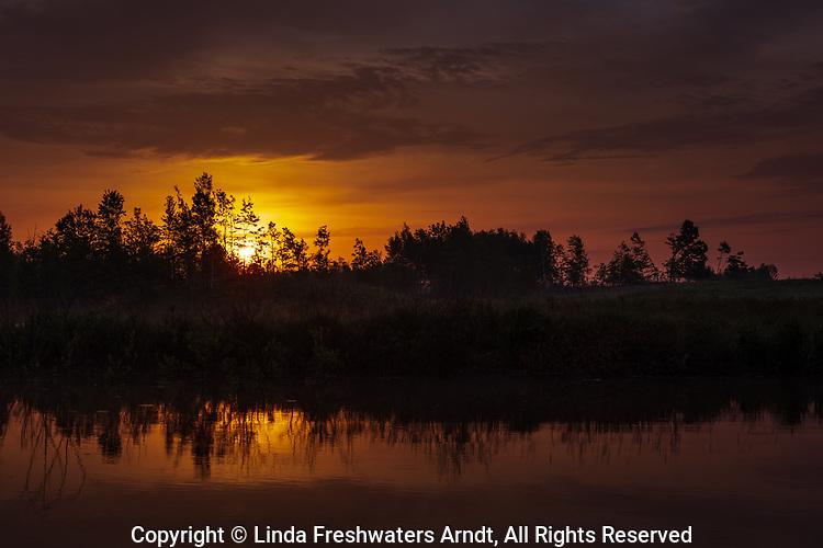 Sunrise in northern Wisconsin.