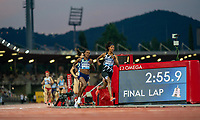10th June 2021; Stadio Luigi Ridolfi, Florence, Tuscany, Italy; Muller Diamond League Grand Prix Athletics, Florence and Rome; Final lap for Sifan Hassan, Faith Kipyegon and Laura Muir